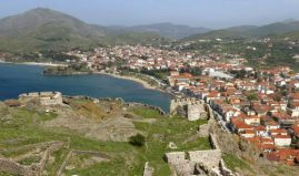 Town of Myrina, in Lemnos island, Greece